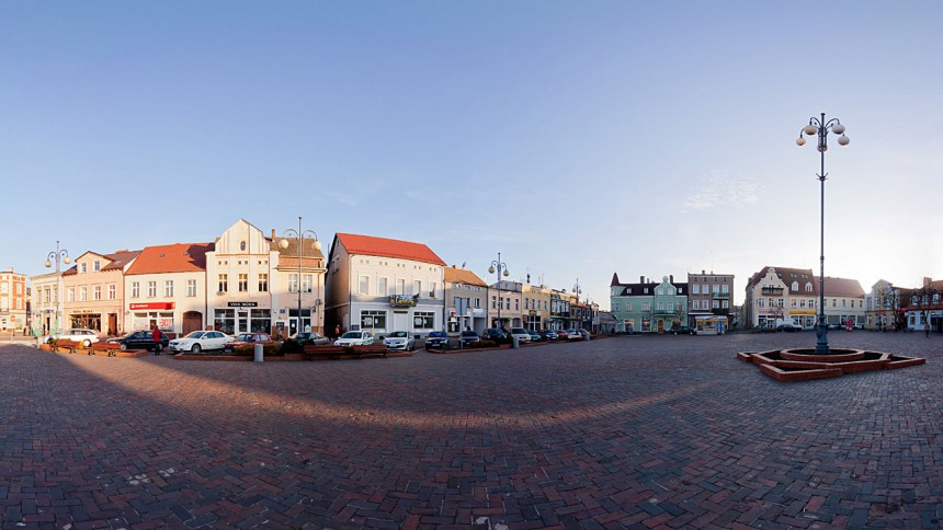 Chodzież - Rynek - panorama 360st.