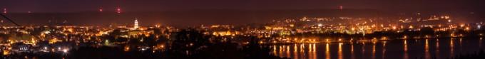 Nocna panorama Chodzieży